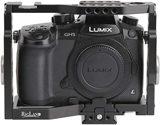 WARAXE GH5 Kit Camera Cage Built-in Quick Release Fits Arca Swiss for Panasonic GH5 GH4