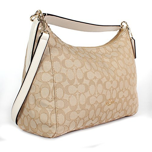 Coach Outline Signature East West Celeste Hobo Crossbody Bag, Light Khaki Chalk