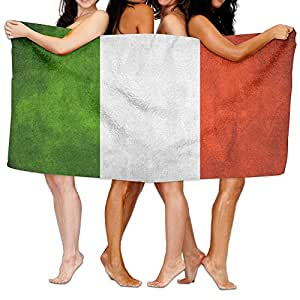 Toallas de baño de toallas de baño, playa de bandera de Italia mano turco toalla