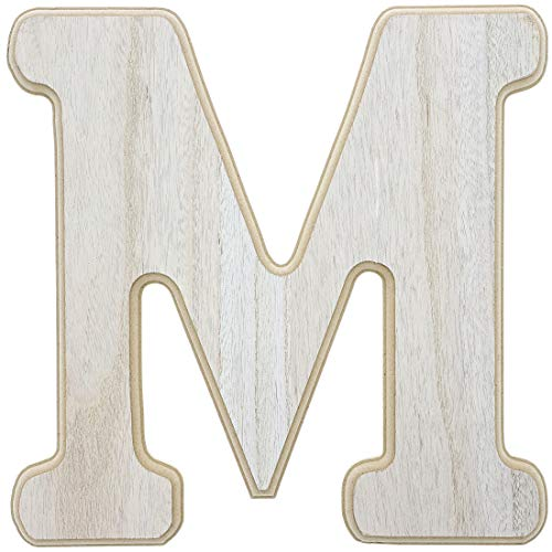 Unfinished Wood Letter M Cutout for DIY Painting, Crafts, and Wall Decor, 12 x .5 x 12 Inches ()
