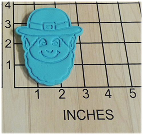Leprechaun Saint Patrick's Day Fondant Cookie Cutter and Stamp #1089