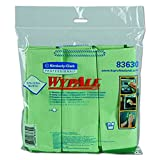 """Kimberly-Clark Professional Wypall 83630 Microfiber Cloths with Microban Protection, 15-3/4"""" Length x 15-3/4"""" Width, Green (4 Packs of 6)"""