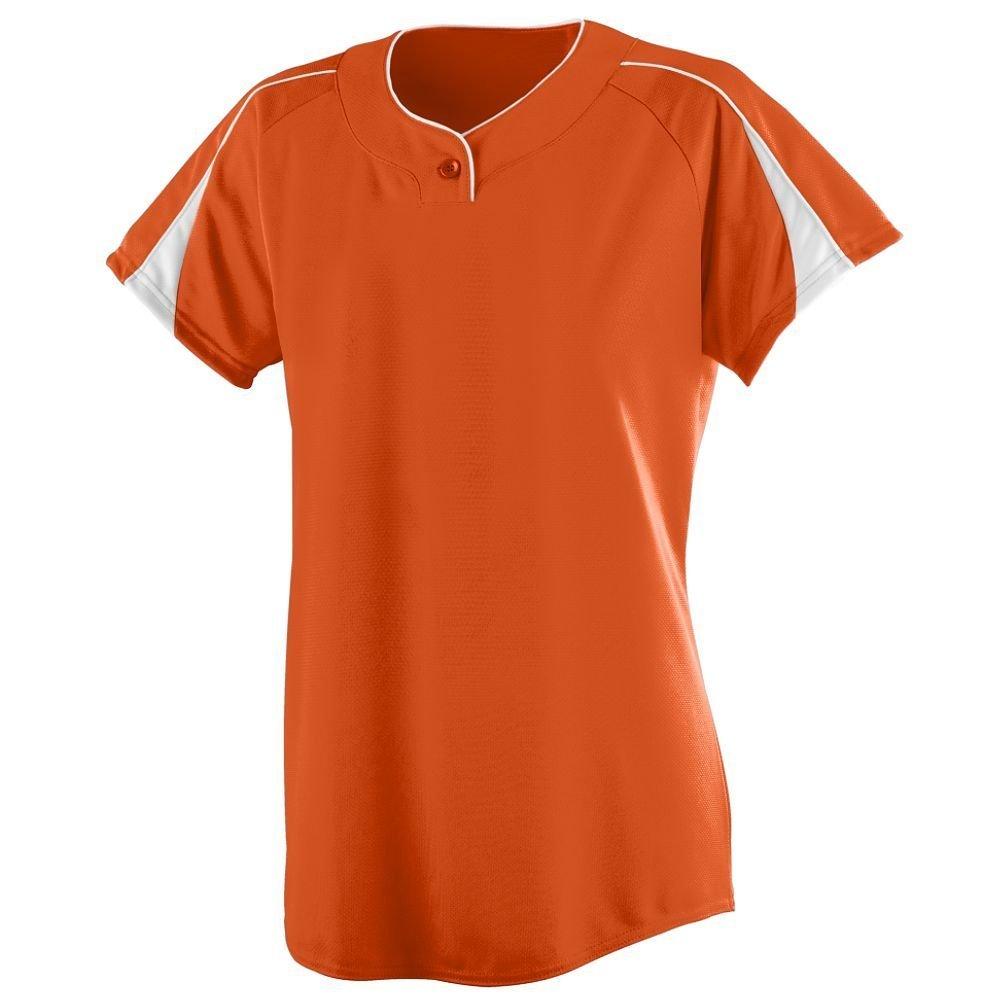 Augusta SportswearレディースダイヤモンドSoftball Jersey B00GK5T7BW XX-Large オレンジ/ホワイト オレンジ/ホワイト XX-Large
