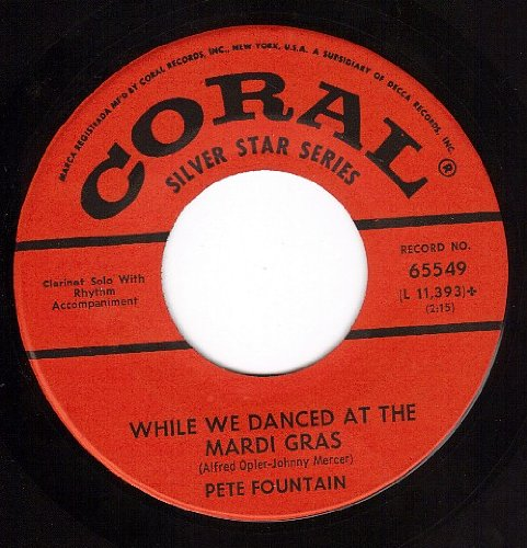 While We Danced At The Mardi Gras/Yes Indeed (VG++/VG+ 45 rpm)