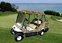 """Premium Tight Weave Golf Cart Driving Enclosure for 4 seater with 2 seater roof up to 58"""""""