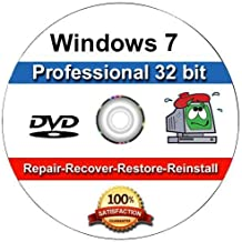 Windows 7 Professional 32-Bit Install | Boot | Recovery | Restore DVD Disc Disk for Install or Reinstall of Windows