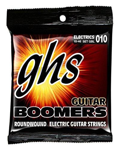 GHS Boomers Roundwound Nickel-Plated Steel Electric Guitar Strings - GBL - Light Gauge .010 - .046 (Steel Guitar Barnes)