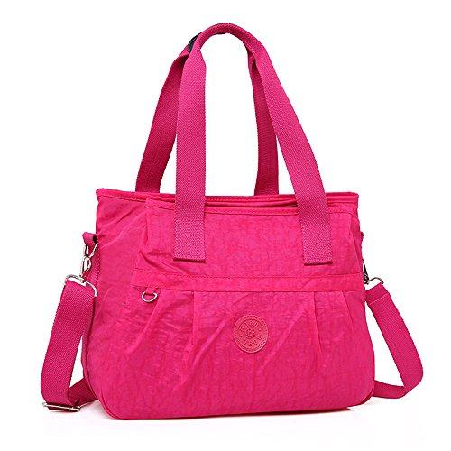Bolsa Claro Madre Multifunción Señora Red Momia Bolso Meaeo Impermeable Rose Bolso Gris Wxzcwnz17