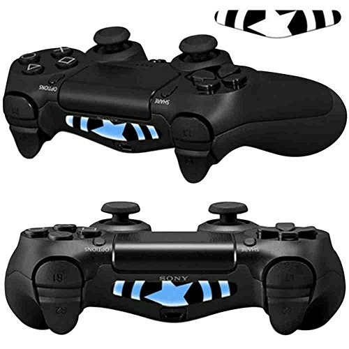 Mod-Freakz-Pair-of-LED-Light-Bar-Skins-American-Captain-Shield-for-PS4-Controllers