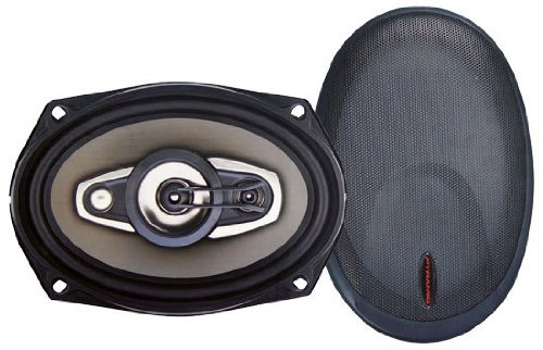 "Pyramid 6980GX 6"" x 9"" 800 Watts 4 Way Bronze P.P. Cone Speakers 400W +400W Rated (Spl Audio 4 2 Way)"