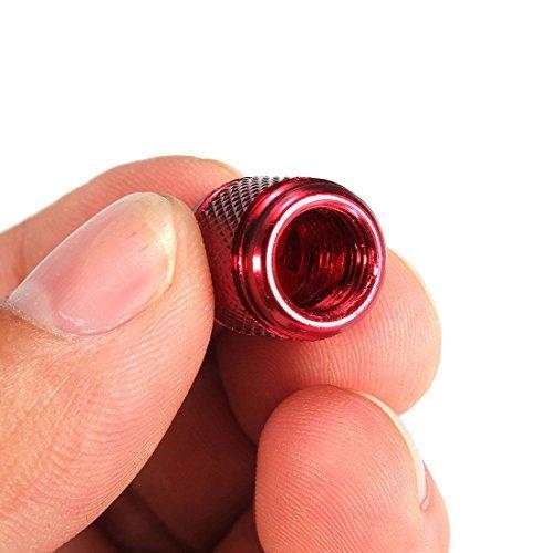 Sonline 4pc NEUF COUVERTURE PRESSION BOUCHON DE VALVEPneu CAP Dust Tige ROUE velo pour AUTO VOITURE rouge