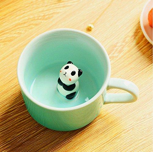 Panda Surprise 3D Coffee Mug Cute Cartoon Animal Ceramics Cup Morning Cup, Best Office Cup 8 Ounce (3D Panda Cup)
