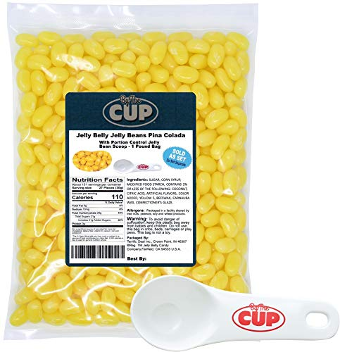 Jelly Belly Jelly Beans Pina Colada 1 Pound with By The Cup Portion Control Scoop]()
