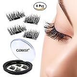 #2: 3D Reusable False Magnet Eyelashes, Magnetic Fake Eye Lashes, 1 pair (4 piece) Natural Handmade Extension Fake Eye Lashes - No false eyelashes glue