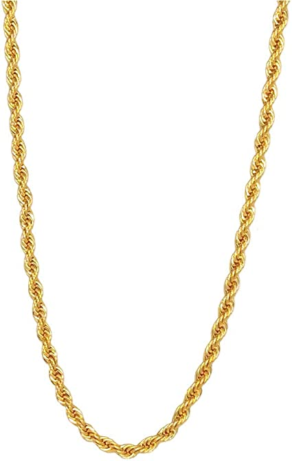 14k Gold Rope Chain Necklace I Chain Necklace I Handmade I Gold Chain Necklace I Dainty chain I Boyfriend Chain Necklace I Serpentina Chain