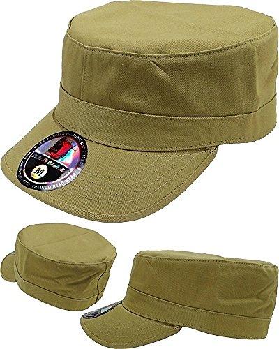 Patrol Cap Khaki (Castro Military Patrol Cap (Medium, Khaki))