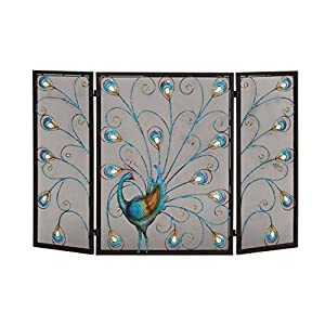Deco 79 Metal Fireplace Screen 48 by 32-Inch
