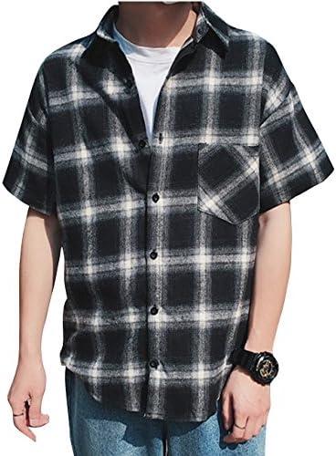 シャツ 半袖 メンズ チェックシャツ ギンガムチェック オシャレ カジュアル ゆったり yシャツ Glestore(グラストア)