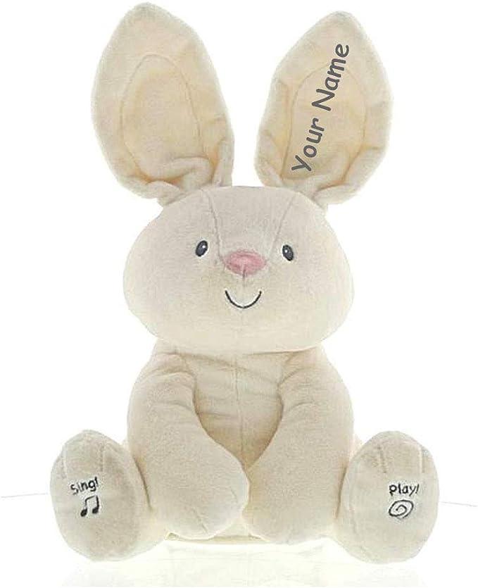 Crocheted soft bunny Birthday gift Baby shower present baby room decoration Stuffed animal rabbit Surprise for girlfriend toy Keepsake gift