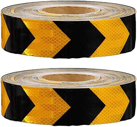 [エスネット] 高輝度 反射 テープ 材 蛍光 幅 5cm 長さ 90m 事故 防止 安全 トラック 自転車 リフレクター SN-162-1 キラキラ 派手 装飾 (黒オレンジ 90m)