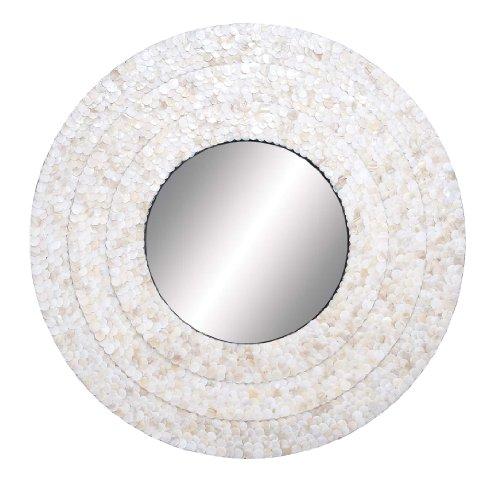 Deco 79 48952 Wood Inlay Mirror, 32