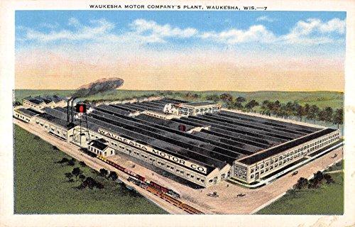 Waukesha Wisconsin Waukesha Motor Company Plant Antique Postcard - Waukesha Motor