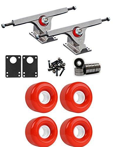 Caliber Raw Longboardトラックホイールパッケージ62 mm x 40 mm 83 a 485 Cレッド [並行輸入品]   B078WW4ZH8
