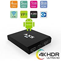 Lance AX5 Android 6.1 4K Smart TV Box with Amlogic S905X Quad Core 1G ram 8G ROM Supports VP9 Decoding /H.265/2.4G WIFI UHD TV BOX(4K×2K) with Remote