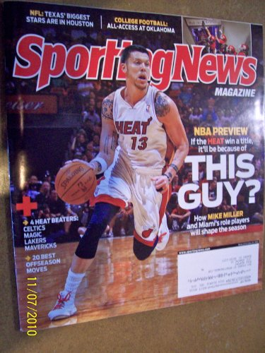Sporting News October 25, 2010 NBA Preview All-Access at Oklahoma Houston Texans Mike Miller Miami - Mike Nba Miller