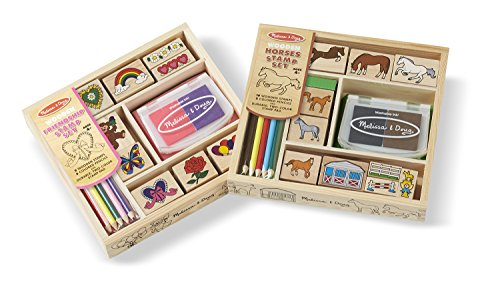 (Melissa & Doug Wooden Stamp Sets (2): Friendship and Horses)