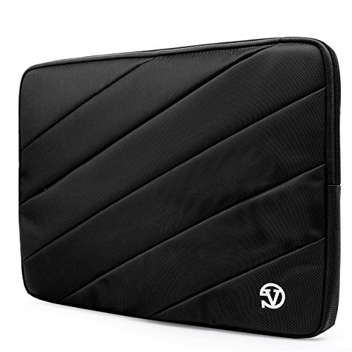 Laptop Quilted Carrying Case (Bump Proof Carrying Quilted Sleeve Black Travel Case For Asus 14