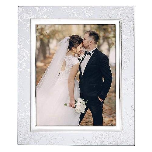 """Lenox Silver Peony Picture Frame 8""""x10"""""""