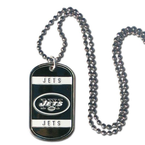 (NFL New York Jets Dog Tag Necklace)