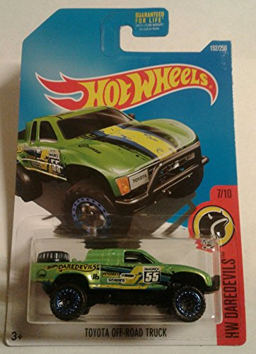 2016 Hot Wheels TOYOTA OFF-ROAD TRUCK 152/250 (green) HW Daredevils 7/10 (Hot Wheel Baja Truck compare prices)