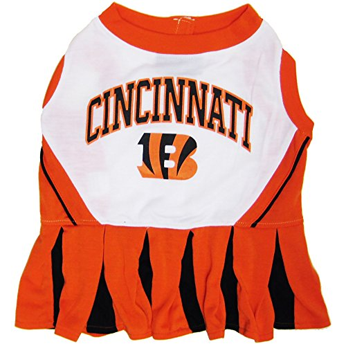 Cincinnati Bengals Cheerleader - Cincinnati Bengals NFL Cheerleader Dress For Dogs - Size X-Small