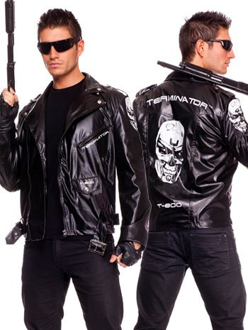 The Terminator Costume - X-Large Jacket for Men