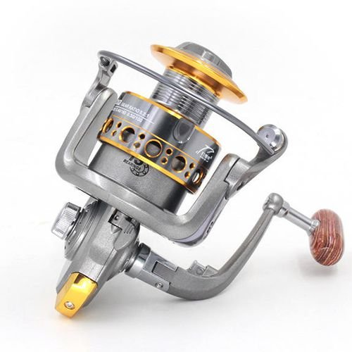 Dc5000 Series - Fishing Reel,Fishing up 1000 to 7000 Series Fishing Reels Spinning Sea Fishing Rod 13 Axis Wire Cup Fishing Gear Wheel (DC5000)