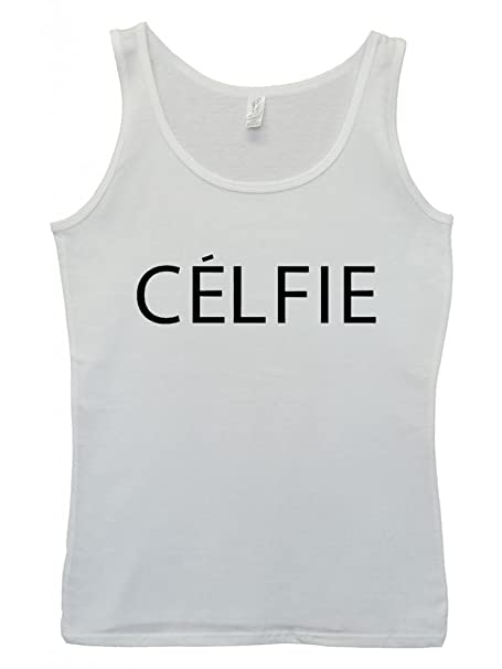 Celfie Selfie Tumblr Meow Cool Hipster Swag White Weiß Damen Women  Unterhemd Tank Top Vest: Amazon.de: Bekleidung