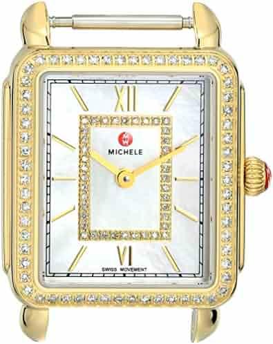 Michele Women's 'Deco II' Swiss Quartz Stainless Steel Dress Watch(Model: MW06I01B0963)