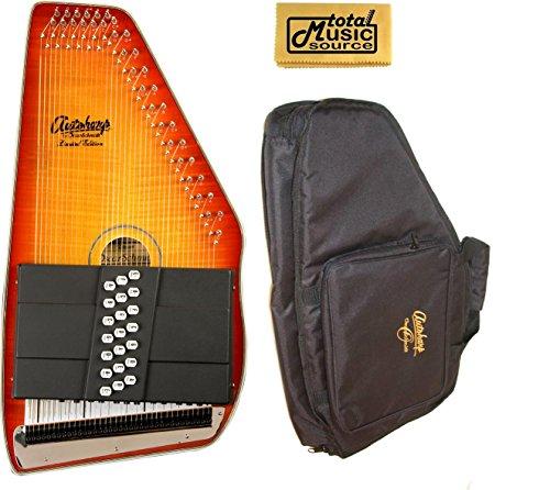 Oscar Schmidt 21 Chord Autoharp, Flame Maple Top, Honey Sunburst, OS11021FHS (Maple Honey Top Sunburst)