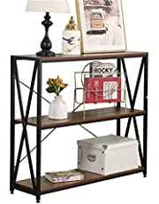 sogesfurniture Console Sofa Couch Table Household Essentials Sofa Table Console Table for Entryway Accent Wall Table with Shelf for Living Room, Rustic Brown BHCA-CZJYB-003