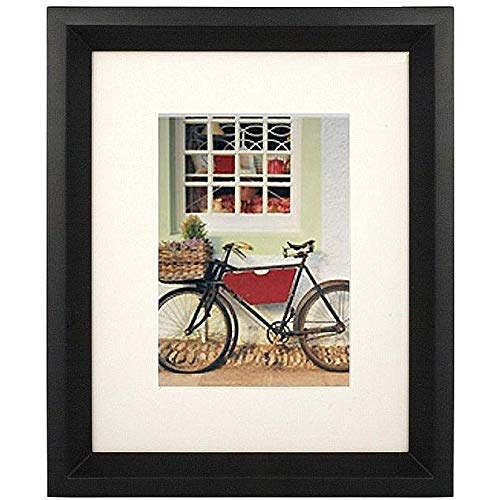 Nielsen Bainbridge Artcare 11x14 Archival Monarch Collection Chestnut Frame with White Mat for 8x10 Image #RW13MNCH. Includes: UV Glazed Glass and Anti Aging ()