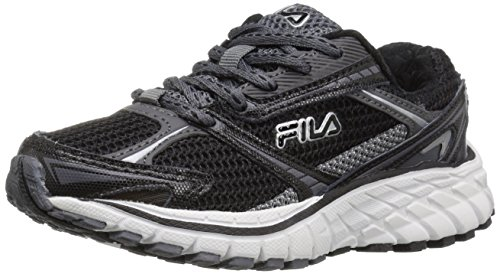 Image of Fila Boys' Nitro Fuel Skate Shoe, Black/Castle Rock/Metallic Silver, 11 M US Little Kid