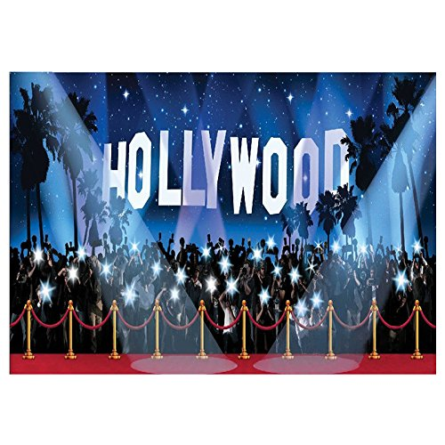 SODIAL(R) Hollywood Vinyl backdrop Photography Photo Studio background Prop 9X6FT 089019