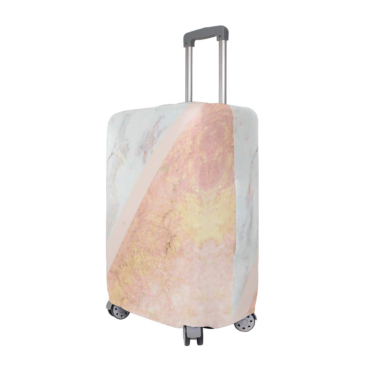 Marble Rose Gold Traveler Lightweight Rotating Luggage Cover Can Carry With You Can Expand Travel Bag Trolley Rolling Luggage Cover