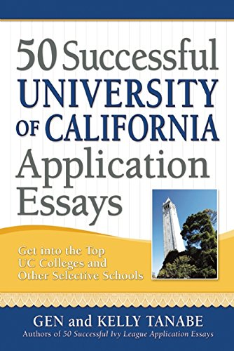 essays for university of california Beyond what has already been shared in your application, what do you believe makes you stand out as a strong candidate for admissions to the university of california things to consider: if there's anything you want us to know about you, but didn't find a question or place in the application to tell us, now's your chance.