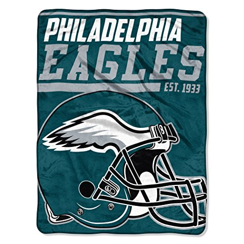The Northwest Company NFL Philadelphia Eagles 40-Yard Dash Micro Raschel Throw, 46