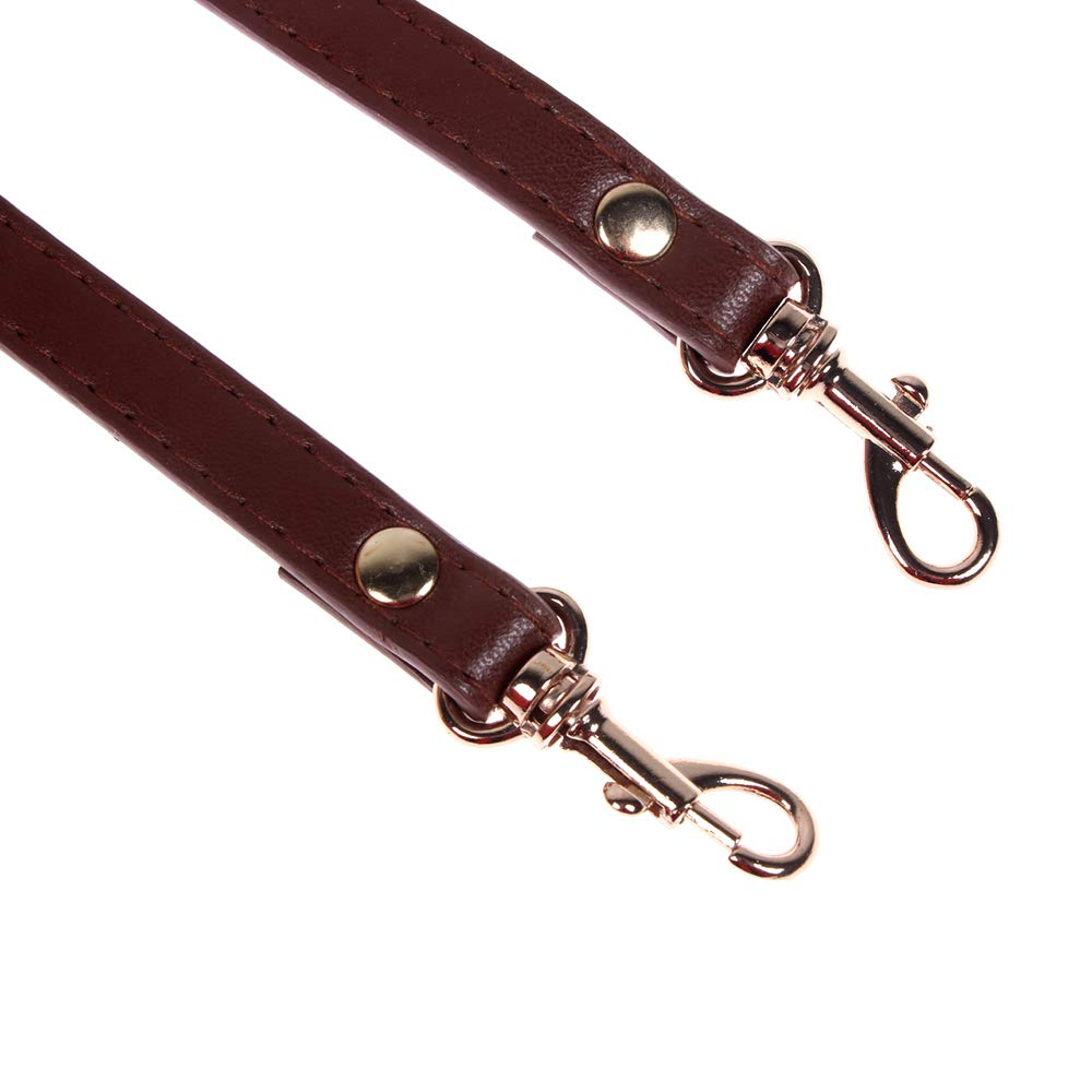 Grey RAYNAG Adjustable Leather Shoulder Straps Replacement Crossbody Purse Handbag Strap Replacement with Silver Clasp