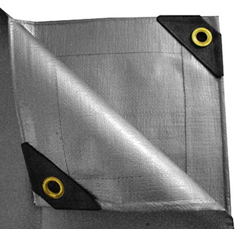 [UST C1020 Heavy Duty Canopy Tarp, Silver, 10-Feet x 20-Feet] (10x20 Silver Canopy)