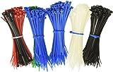 Silverhill Tools AZT500PK 500Count Multicolor 4'' Zip Tie Bulk Pack